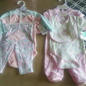 Set de 2 trajes para bebes nuevos size 0 3 mesess